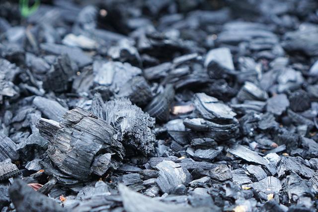 使用後の炭